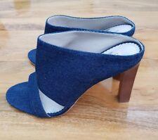 Boden LADIES GORGEOUS MULES DENIM HEEL Shoes EU 41 UK 7.5 AR682 BRAND NEW