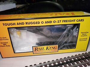 MTH Rail King O Gauge # 30-7948 Penn Crane Car, Real Sharp High Quality  C9
