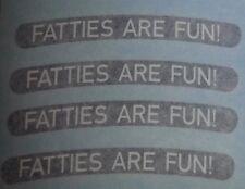 "FAT TIRE bike rim decals  ""Fatties are Fun!"" Borealis SurlyTrek Farley Fatty BIG"