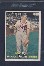 1957 Topps #127 Bob Buhl Braves EX 57T127-82216-1