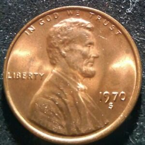 1970 S Lincoln Memorial Cent Penny UNC Ch Bu  ***Small date*** RARE!
