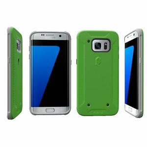 For Samsung Galaxy S7 Edge Poetic QuarterBack Series Bumper Protector Case GN