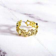 Hollow Joined Star Ring Fully Adjustable Open Thumb Ring Christmas + GIFT BOX