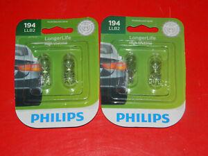 (2) PACKS PHILIPS 194LLB2 LONGER LIFE SIDEMARKER LAMP BULB ASSEMBLIES FOR F-150