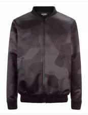 Marbek Grande Camuflaje Negro Dpm Cazadora de Aviador Hombre Abrigo Diseño