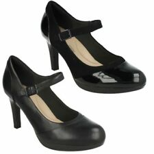 Clarks 100% Leather Slim Court Heels for Women
