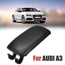 1x Audi A3 8P 2003-2013 Cuir Centre Console Accoudoir Couvercle CouvertureNoir
