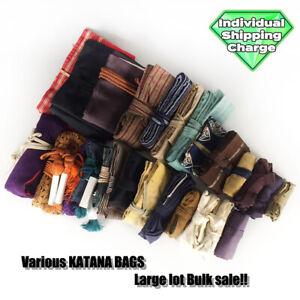 D1395 Japanese Edo Samurai Various KATANA BAGS carrying & keeping koshirae iai