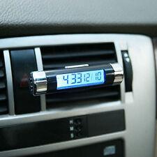 Car Truck Dashboard Mini Digital Clock Blue LCD Display Thermometer Time Clock