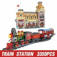 Sluban Building Blocks Railway Station Atlantis Electronic 235PC Set Brand New