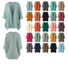 Loose Fit Lightweight Open Front Woven Chiffon Cardigan