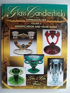 NEW VINTAGE GLASS CANDLE STICKS PRICE GUIDE COLLECTOR'S BOOK Candlesticks