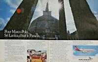 PUBLICITÉ DE PRESSE 1979 AIRLANKA POUR MARCO POLO SRI LANKA C'EST LE PARADIS