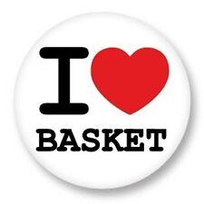 Magnet Aimant Frigo Ø38mm ♥ I Love You j'aime Sport Basket BasketBall