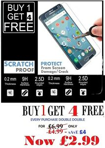 5 x /Samsung J1 A5 A7 Note 5 8 Tempered Glass Screen Protector Buy 1 Get 4 Free