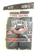 The Railroad Sock Men's Gray Grey Tube Socks 6 Pack Size 10-13 Brand New Sealed