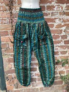 hippie/boho/alternative Plus/free baggy harem Patchwork Trousers cashmilon