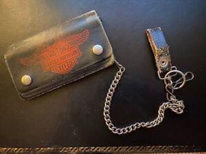 porte-feuille cuir Harley Davidson avec chaîne