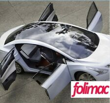 Panoramadach Auto Dach Folie Schwarz hochglänzend 135 cm x 200 cm Luftkanäle