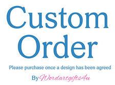 Personalised Word Art Print CUSTOM ORDER