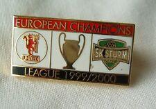 pin badge 1999-2000 UEFA Champions League football FC SK Sturm Graz Austria rare