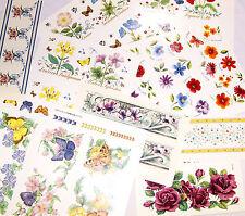 Ceramic Decals Floral Flower Mug Wraps Asst Designs Rose Botanicals Lily Poppy