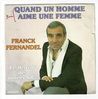 """Franck FERNANDEL Vinyle 45T 7"""" SP QUAND UN HOMME AIME UNE FEMME -TEMPESTI 42019"""