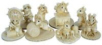 """8 Wee Forest Sea Folk Crew of the Peapod Scrimshaw Mice Mouse Figurines 2"""""""