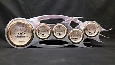 5 GAUGE FLAME STYLE DASH CLUSTER GOLD