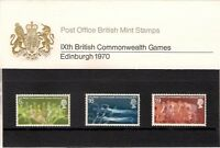 GB 1970 Ninth IXth British Commonwealth Games Presentation Pack 19