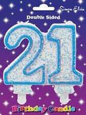 Cake Candle Milestone  Number 21 Blue, Party/Props/Decorations/Supplies/Gifts