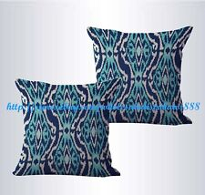 US SELLER-set of 2 ikat accent cushion cover decorative pillow covers for couch