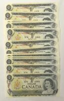 1973 $1 Bank Of Canada 50 Consecutive in Sequence Banknotes UNC [BAT5353XXX]