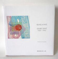 SEUND JA RHEE, OEUVRE GRAVE 1957-1992,CATALOGUE RAISONNE, MICHEL BUTOR, FUS,1994