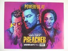 PREACHER CAST SIGNED 11X14 PHOTO DOMINIC COOPER RUTH NEEGA 10+ DC/COA (SEASON 2)