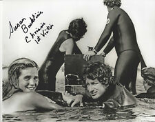 Jaws autographed 8x10 photo by 1st victim with Speilberg in water with her