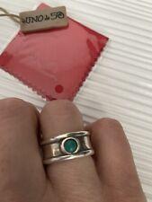 Uno De 50 Anello Con Pietra Verde (turchese Scuro) Misura 18
