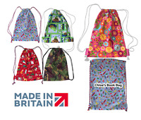 Patterned Drawstring Pump Bag Personalised Boys Girls Unisex School PE Sports