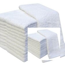 WHITE FACE CLOTHS TOWELS 100% EGYPTIAN COTTON FLANNELS WASH 500 GSM PACK OF 12
