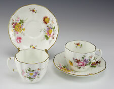 4pc Royal Crown Derby Cup & Saucer in Derby Posies Pattern