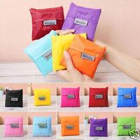 blue  Eco Shopping Travel Shoulder Bag Pouch Tote Handbag Folding Reusable Bags