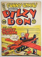 🍁 The Funny Comics With Dizzy Don #12 ( Bell Features, 1944? ) Canadian White