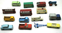 14pc Mid 1960s Lesney England Matchbox HO Diecast Cars Trucks Buses One Owner