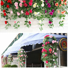 90cm Fake Artificial Garland Silk Rose Flower Vine Ivy Home Wedding Garden Decor