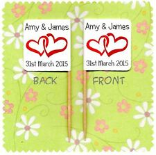 20 PERSONALISED WEDDING ENGAGEMENT CUP CAKE FLAG Party Pick Topper Decoration