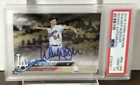 2018 WALKER BUEHLER DODGERS TOPPS CHROME ROOKIE AUTO #RA-WB RC PSA 10 GEM MINT