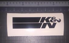 "K&N logo decal sticker black, red or white 6"" x 1.45"" racing jdm"