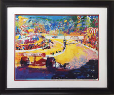 "LeRoy Neiman ""Grand Prix at Laguna Seca"" CUSTOM FRAMED Art Lithograph FORMULA 1"