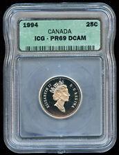 1994 Canada 25-cent Proof ICG PR69 DCAM - Sale