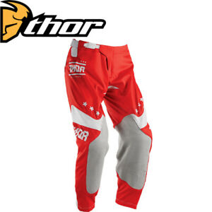 THOR MX Motocross Pants Prime League Red Dirtbike Off Road Enduro Trousers